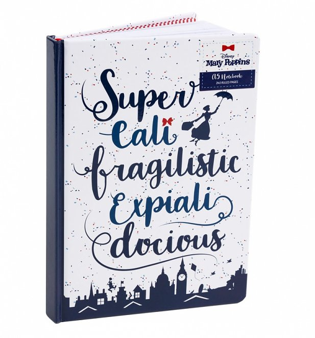 Disney Mary Poppins Supercalifragilisticexpialidocious A5 Notebook