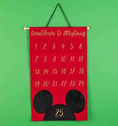 Disney Mickey Mouse Embroidered Fabric Advent Calendar