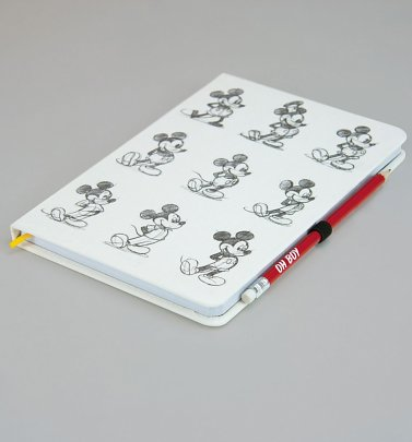 Disney Mickey Mouse Notebook And Pencil