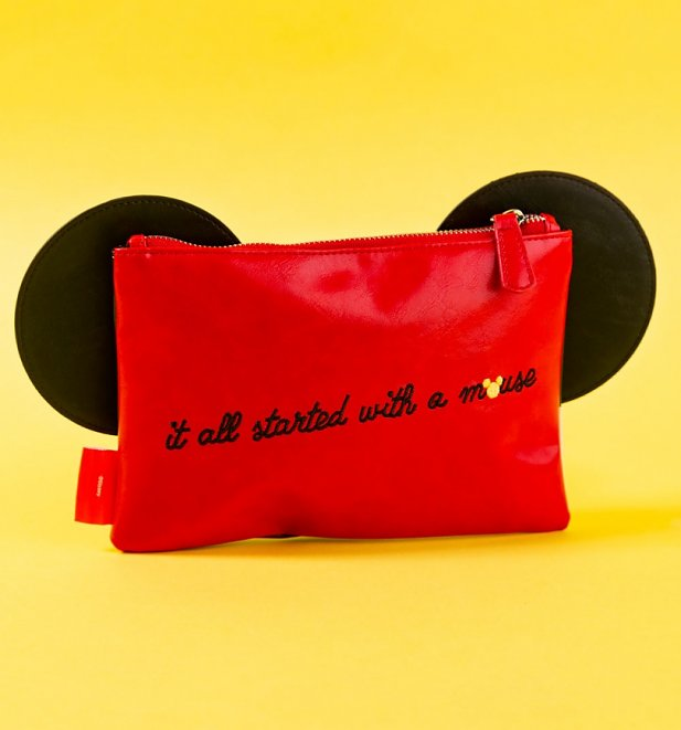Disney Mickey Mouse Pouch With 3D Ears