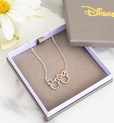 Disney Mickey and Minnie Interlocking Necklace