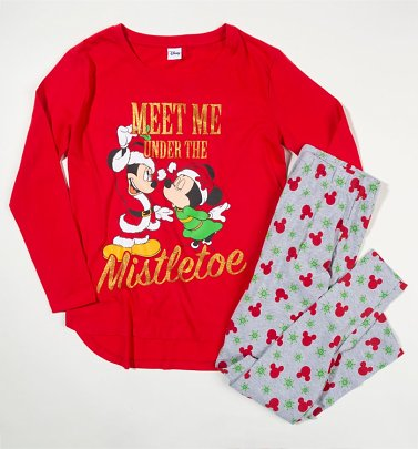 Disney Mickey and Minnie Mouse Christmas Pyjamas