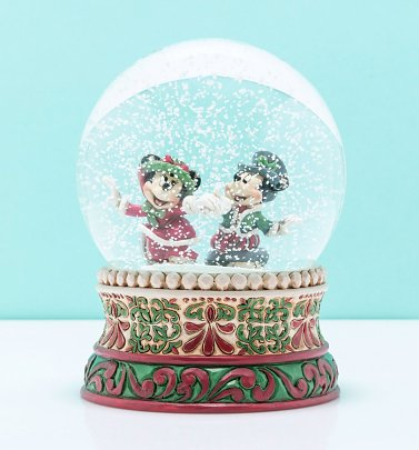 Disney Mickey and Minnie Mouse Skating Snow Globe