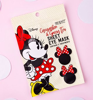 Disney Minnie Mouse Cucumber & Green Tea Sheet Eye Mask