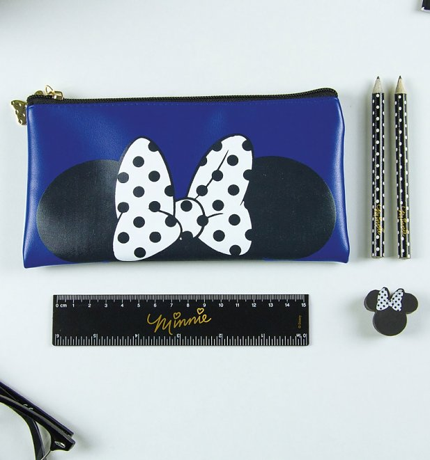 Disney Minnie Mouse Pencil Case With Stationery Set