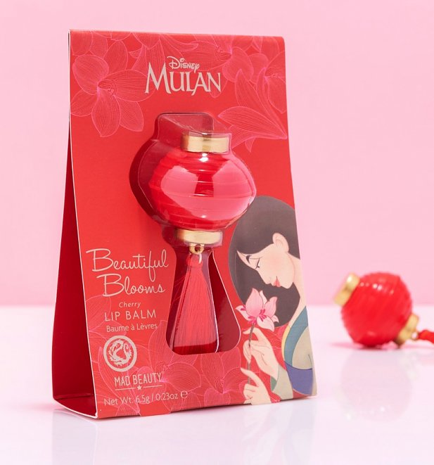 Disney Mulan Beautiful Blooms Cherry Lip Balm from Mad Beauty