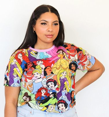 Disney Princess All Over Print T-Shirt from Cakeworthy