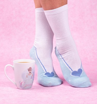 Disney Princess Cinderella Glass Slipper Mug & Socks Set