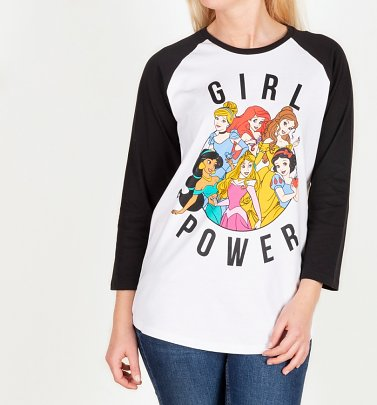 Disney Princess Girl Power Baseball T-Shirt