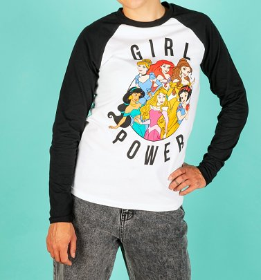Disney Princess Girl Power Long Sleeve Baseball T-Shirt