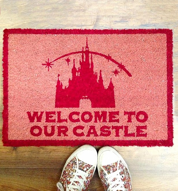 Disney Princess Welcome To Our Castle Door Mat
