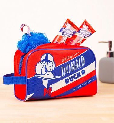 Disney Retro Donald Duck Wash Bag Set from Mad Beauty