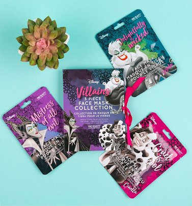 Disney Set Of 3 Villains Sheet Face Masks from Mad Beauty