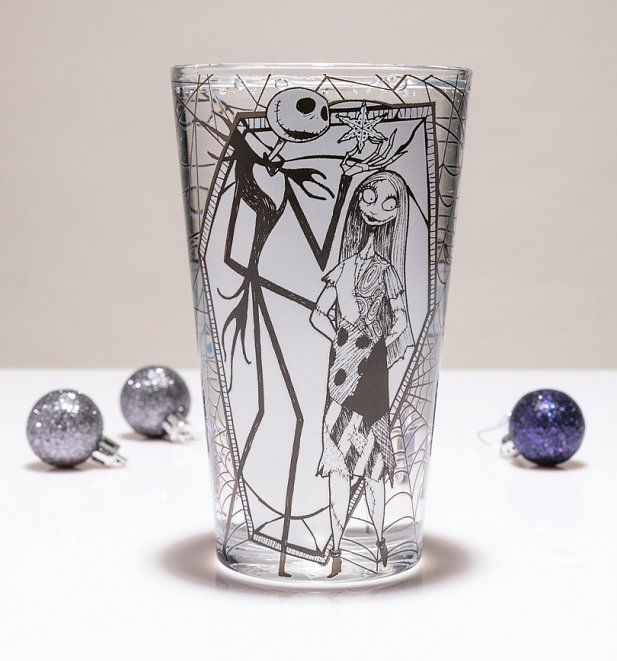 Disney The Nightmare Before Christmas Jack and Sally Glass