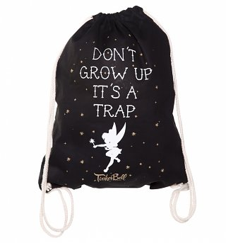 Disney Tinker Bell Don't Grow Up Drawstring Bag