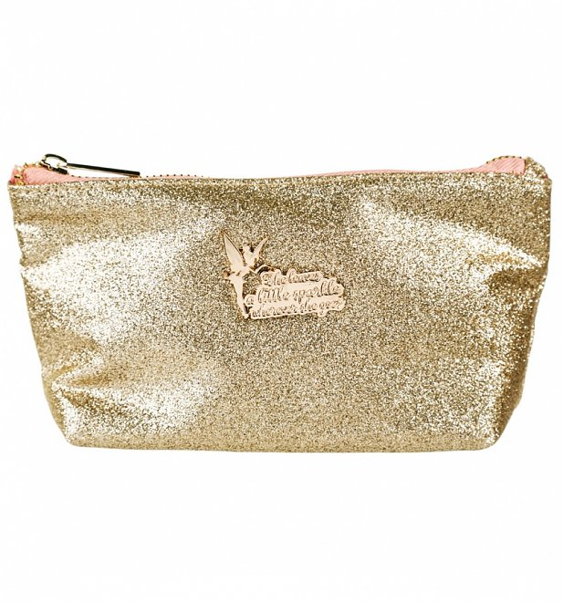 Disney Tinker Bell Glitter Make Up Bag
