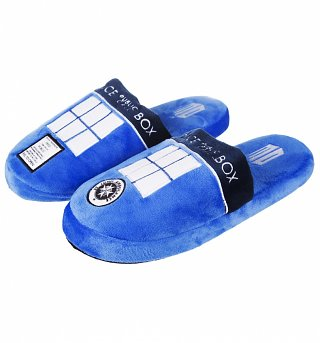 Doctor Who TARDIS Slip On Slippers