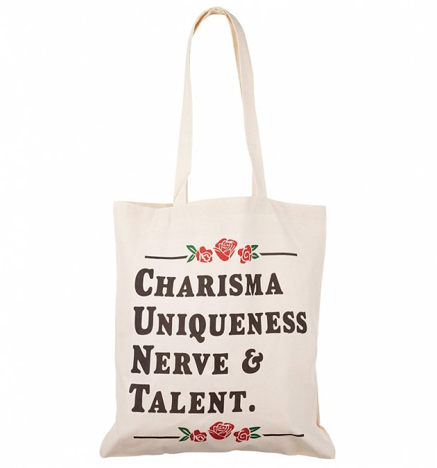 RuPaul's Drag Race Charisma Uniqueness Nerve And Talent Tote Bag