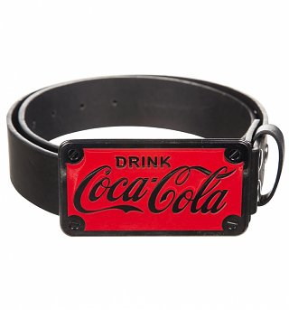 Drink Coca-Cola Logo Belt And Buckle