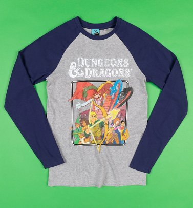 Dungeons And Dragons Cartoon Organic Baseball Shirt