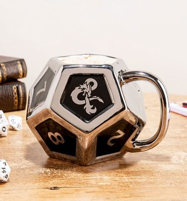 Dungeons and Dragons D12 Shaped Mug