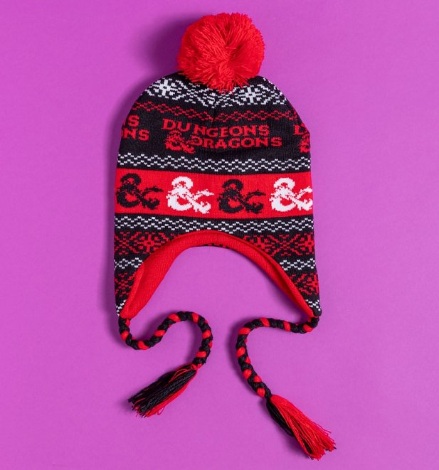 Dungeons and Dragons Knitted Laplander Hat from Difuzed