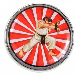 Enamel Street Fighter Ryu Badge