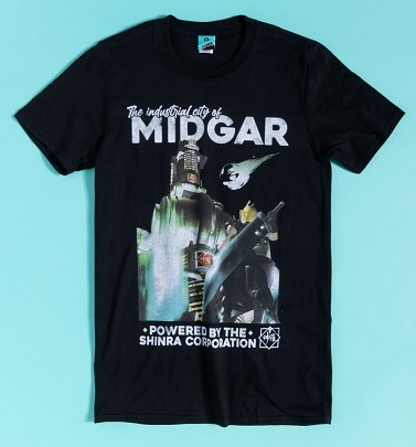 Final Fantasy VII Inspired Midgar Black T-Shirt