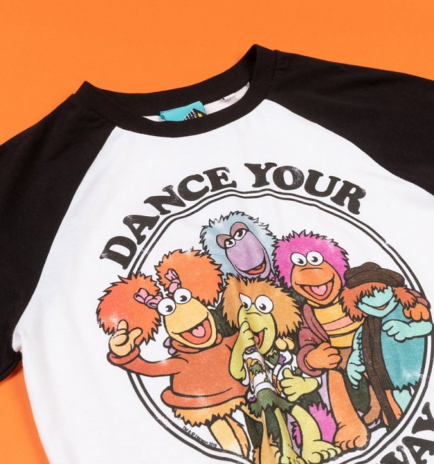 Fraggle Rock Dance Your Cares Away Organic Baseball Shirt
