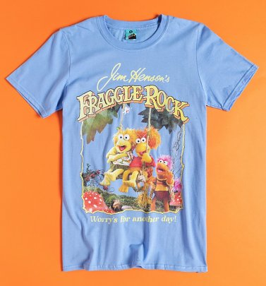 Fraggle Rock Worry's For Another Day Blue T-Shirt