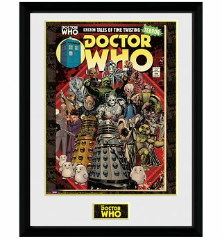 Framed Doctor Who Villians Comic 30 x 40cm Collectors Print