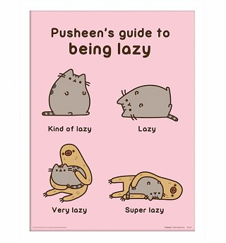 Framed Pusheen's Guide To Being Lazy 30 x 40cm Print