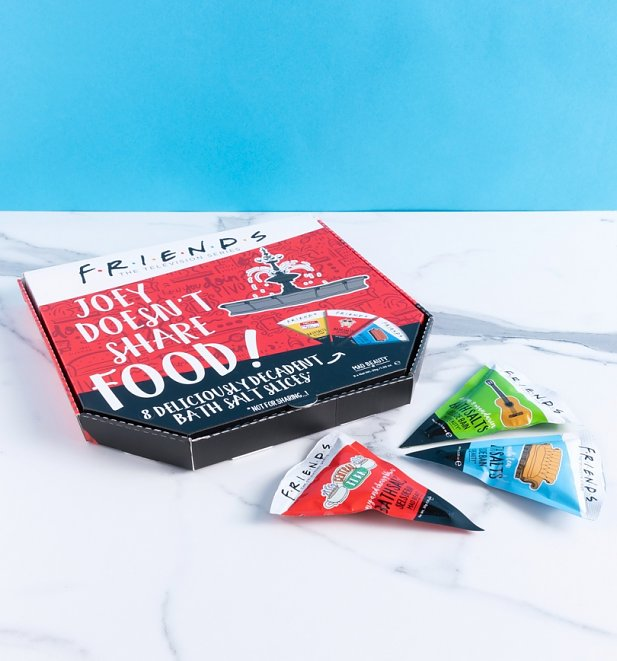 Friends Joey Doesn't Share Food Pizza Bath Salts Set from Mad Beauty