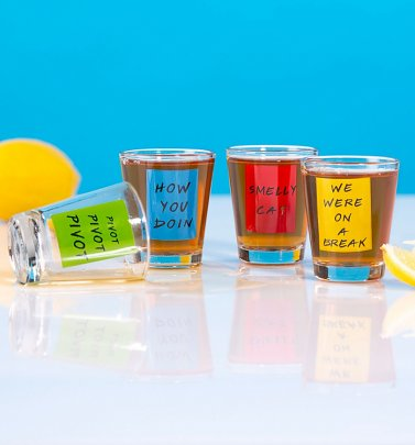 Friends Quotes Set of 4 Shot Glasses