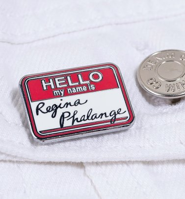 Friends Regina Phalange Name Tag Enamel Pin Badge