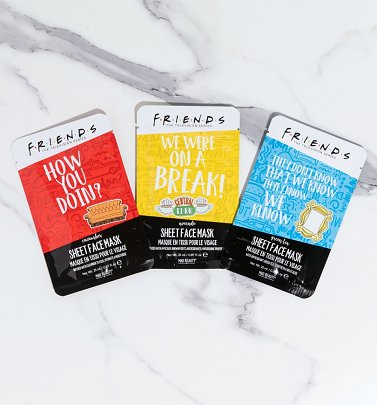 Friends Set of 3 Sheet Face Masks from Mad Beauty