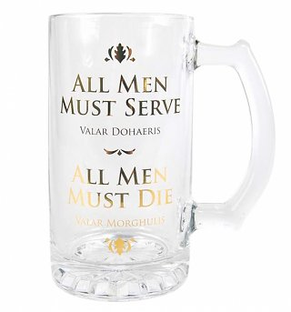 Game Of Thrones All Men Must Serve Glass Tankard