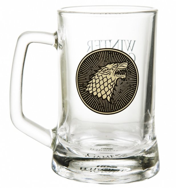 Game Of Thrones House Stark Glass Stein