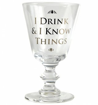 Game Of Thrones I Drink And I Know Things Boxed Wine Glass