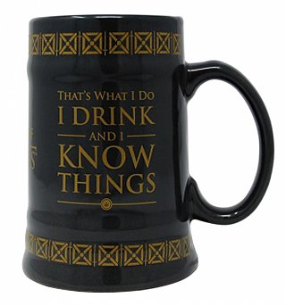 Game Of Thrones I Drink & I Know Things Ceramic Stein