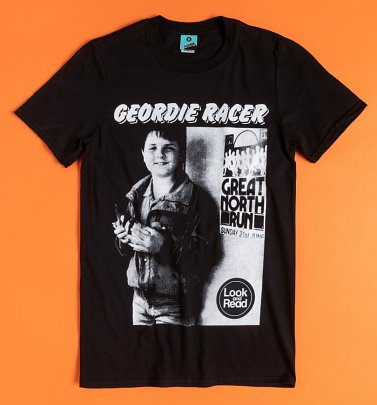 Geordie Racer Black T-Shirt