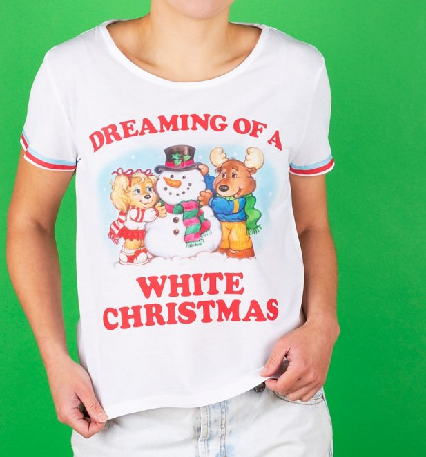 The Get Along Gang White Christmas Dipped Hem T-Shirt