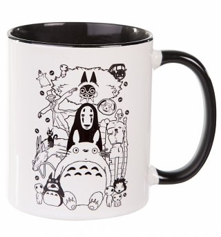 Ghibli Gang Black Handle Mug