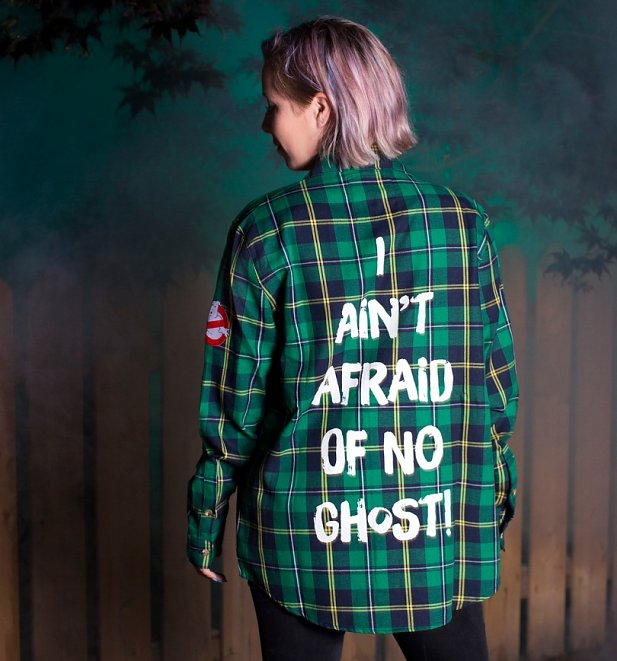 Ghostbusters I Ain't Afraid Of No Ghost Flannel Shirt from Cakeworthy