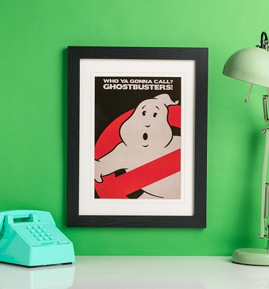 Ghostbusters Mounted and Framed Print 30cm x 40cm