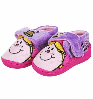 Girls Little Miss Princess Crown Slippers