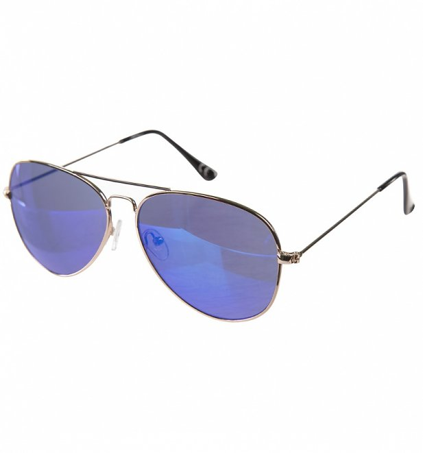 golden frame aviator sunglasses  Frame Mirror Lens Aviator Sunglasses from Jeepers Peepers
