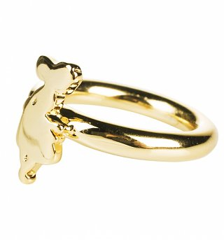 Gold Plated Alice In Wonderland Figure Ring from Disney Couture