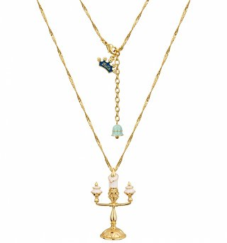Gold Plated Beauty & The Beast Lumiere Necklace from Disney Couture