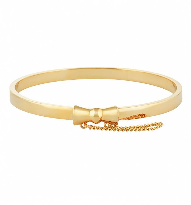 Gold Plated Minnie Mouse Bow Bangle from Disney Couture